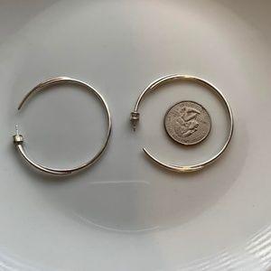 Stella & Dot Sterling Silver hoops